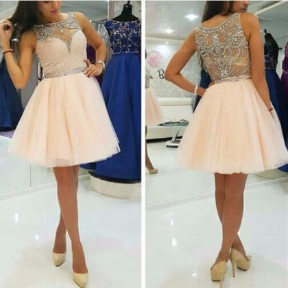 Pretty Beading Homecoming Dresses,S..