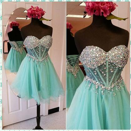 Sweetheart Beading Homecoming Dress..