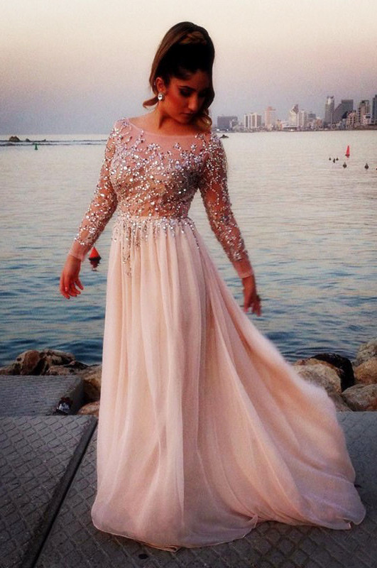 Long Sleeve Prom Dress f5e5493c1e10