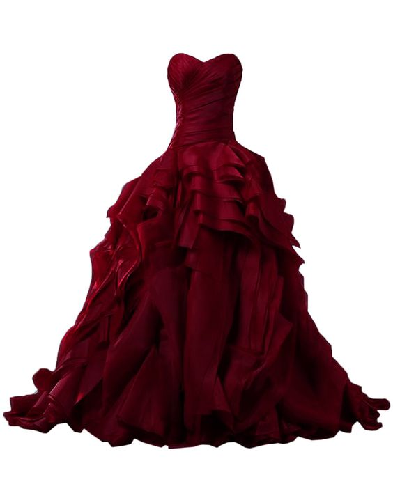 Burgundy Ball Gown Prom Dress,Long Prom Dresses,Charming Prom ...