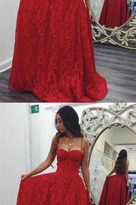 Spaghetti Straps Prom Dresses,Lace Fancy Dresses,Prom Dress,Prom Dresses,Long Prom Dress Z466
