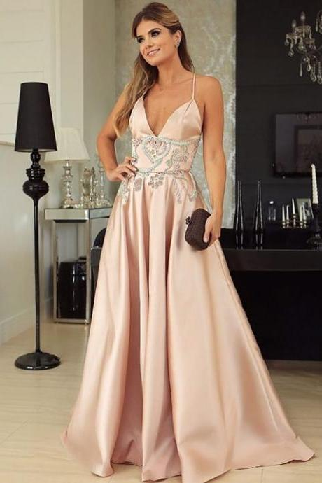 Spaghetti Straps A-Line Prom Dresses,Fancy Dresses,Prom Dress,Prom Dresses,Long Prom Dress Z494