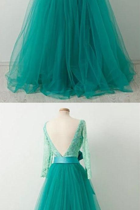 Long Sleeve Backless Prom Dresses,Fancy Dresses,Prom Dress,Prom Dresses,Long Prom Dress Z453