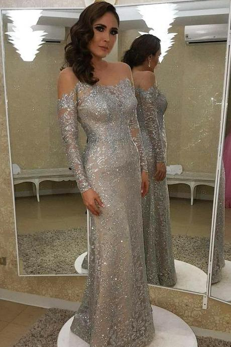 Long Sleeve Prom Dresses,Fancy Dresses,Prom Dress,Prom Dresses,Long Prom Dress Z458
