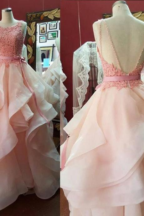 Ball Gown Backless Prom Dresses,Long Prom Dresses,Cheap Prom Dresses,Evening Dress Prom Gowns, Custom Made Formal Women Dress,prom dress,F16