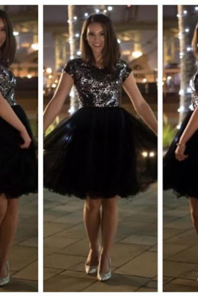 Black Pretty Homecoming Dress,Sexy Party Dress,Charming Homecoming Dress,Graduation Dress,Homecoming Dress ,H93