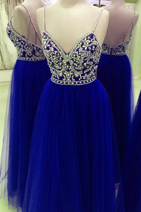 Spaghetti Straps Beading Handmade Prom Dress,Long Prom Dresses,Prom Dresses,Evening Dress, Prom Gowns, Formal Women Dress,prom dress,Z104
