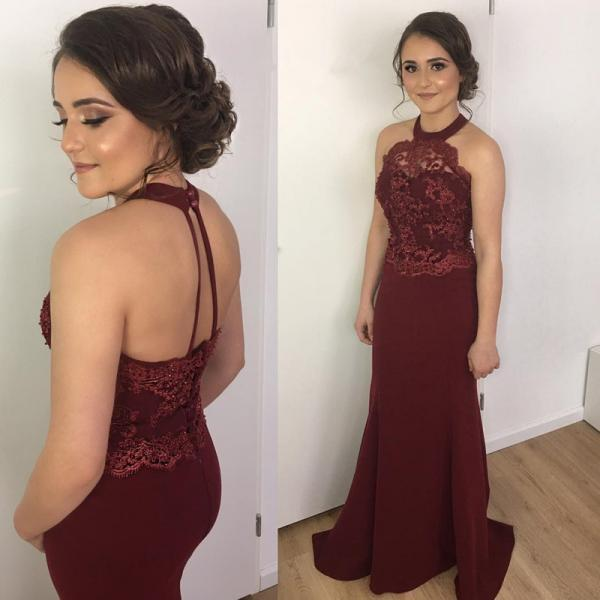 Burgundy Mermaid Prom Dress,Long Prom Dresses,Prom Dresses,Evening Dress, Prom Gowns, Formal Women Dress,prom dress,Z129