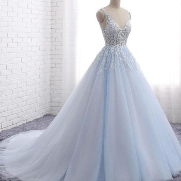 New Arrival V-Neck Lace Charming Prom Dress,Long Prom Dresses,Prom Dresses,Evening Dress, Evening Dresses,Prom Gowns, Formal Women Dress Z264