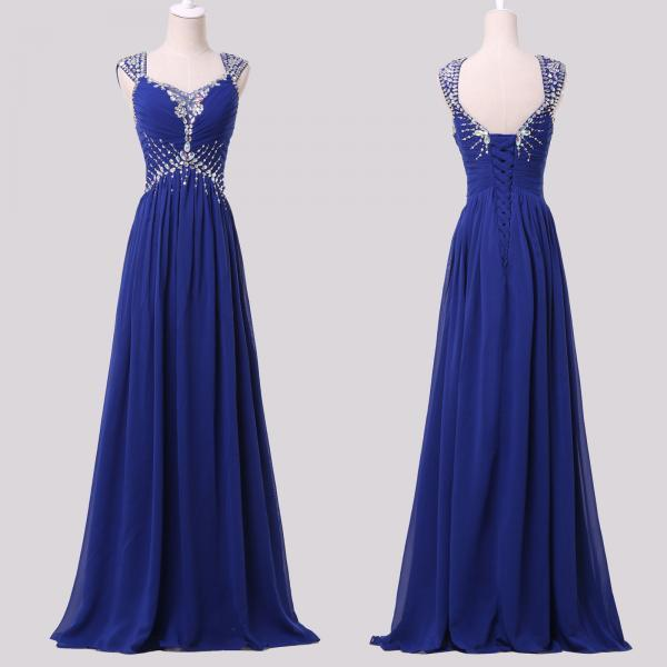 Royal Blue Prom Dress,Long Prom Dresses,Charming Prom Dresses,Evening Dress Prom Gowns, Formal Women Dress,prom dress,F100